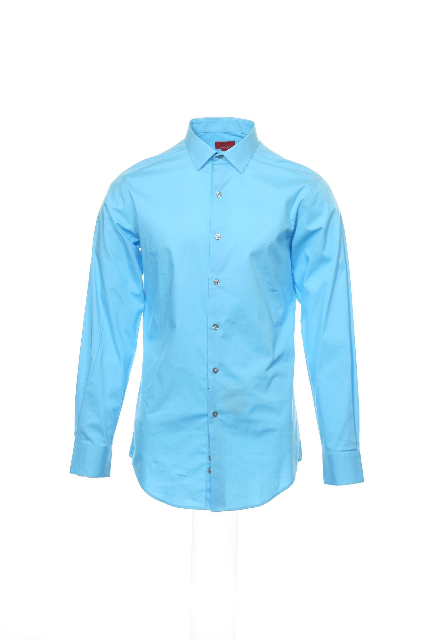 Slim Fit by Alfani Mens Light Blue Button Down Shirt
