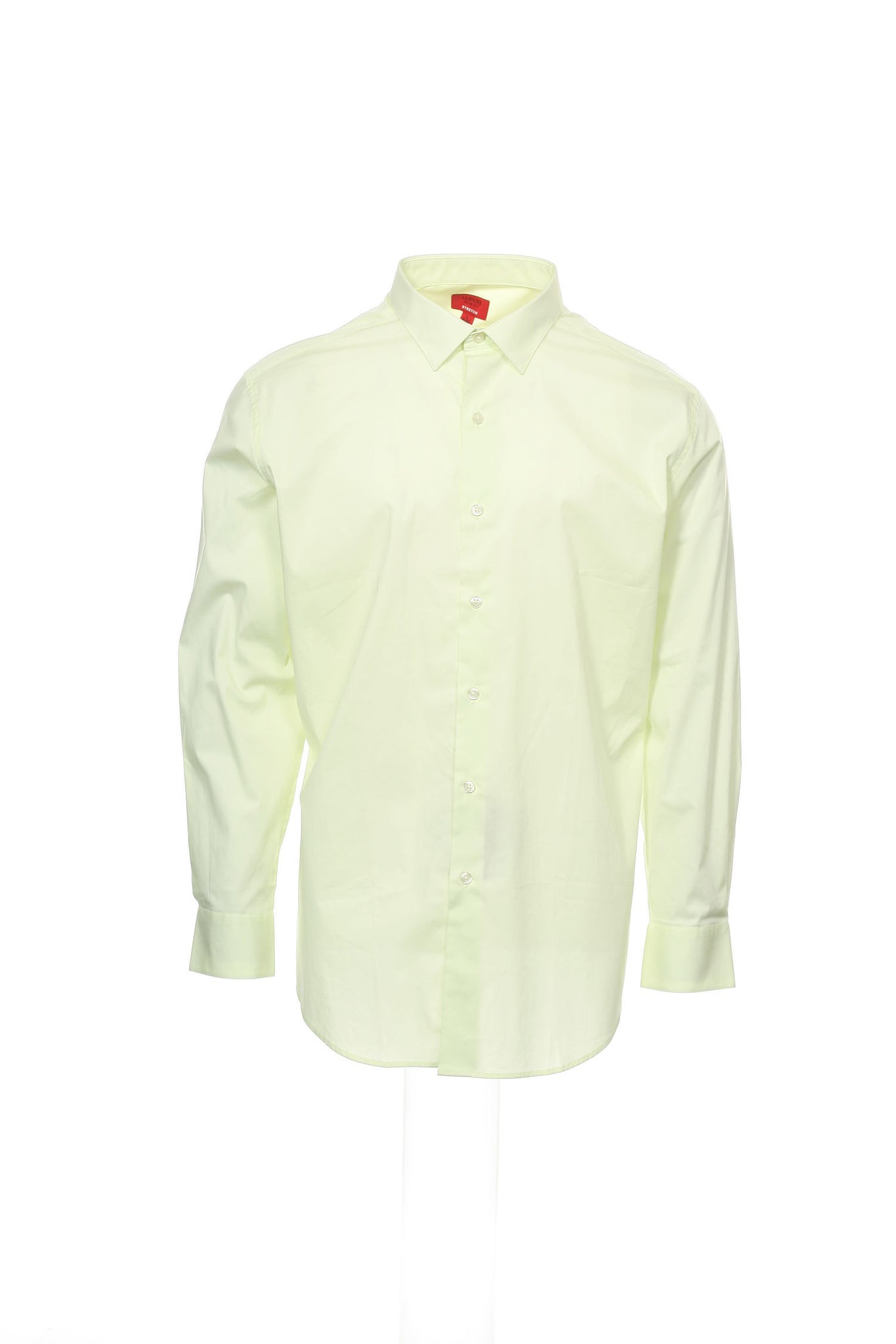 SPECTRUM by Alfani Mens Bright Yellow Button Down Shirt