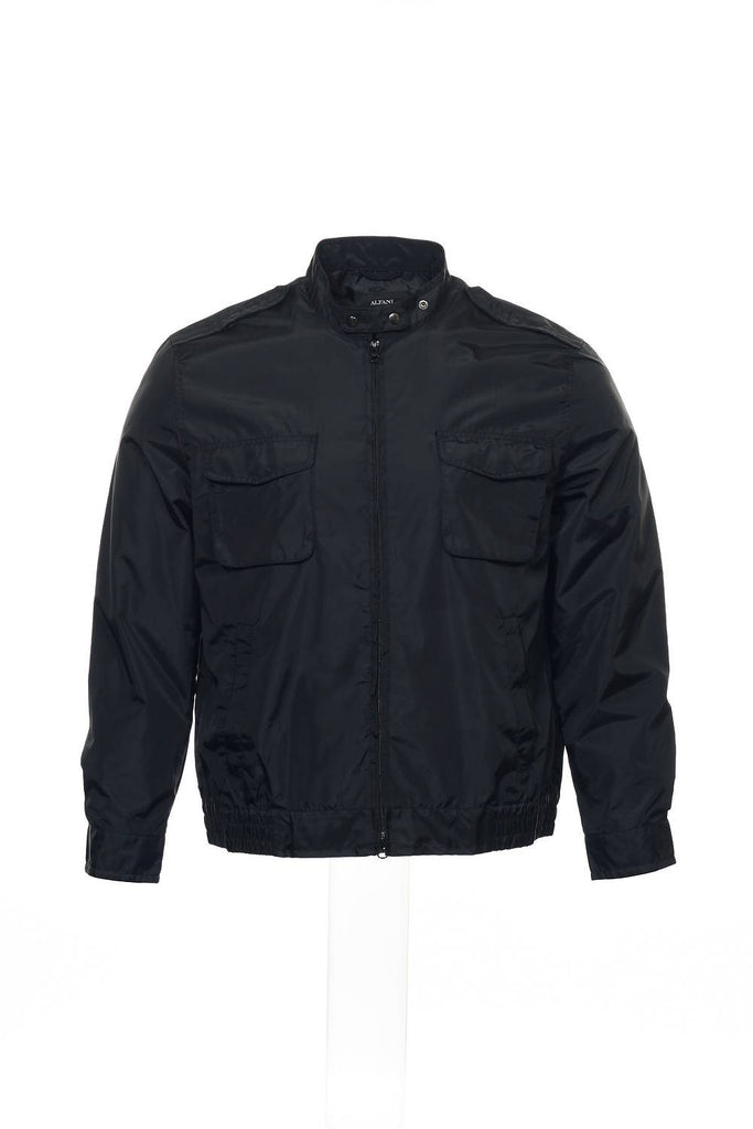 Alfani Mens Black Bomber Jacket