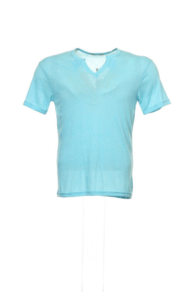 Alternative Mens Aqua Heather V-Neck T-Shirt