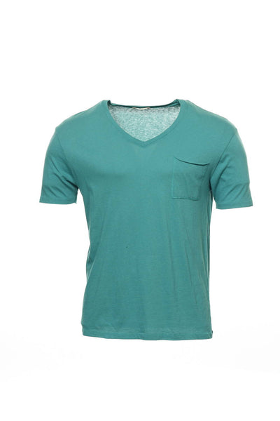 Alternative Mens Green V-Neck T-Shirt