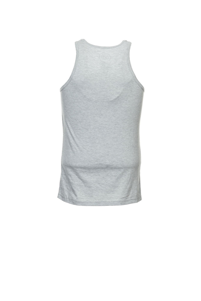 Ambig Mens Light Gray Heather Tank Top