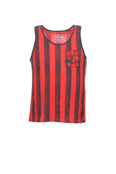 American Rag Mens Red Graphic Tank Top