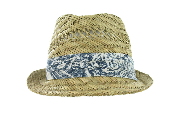 American Rag Mens Khaki Abstract Fedora/Trilby Hat