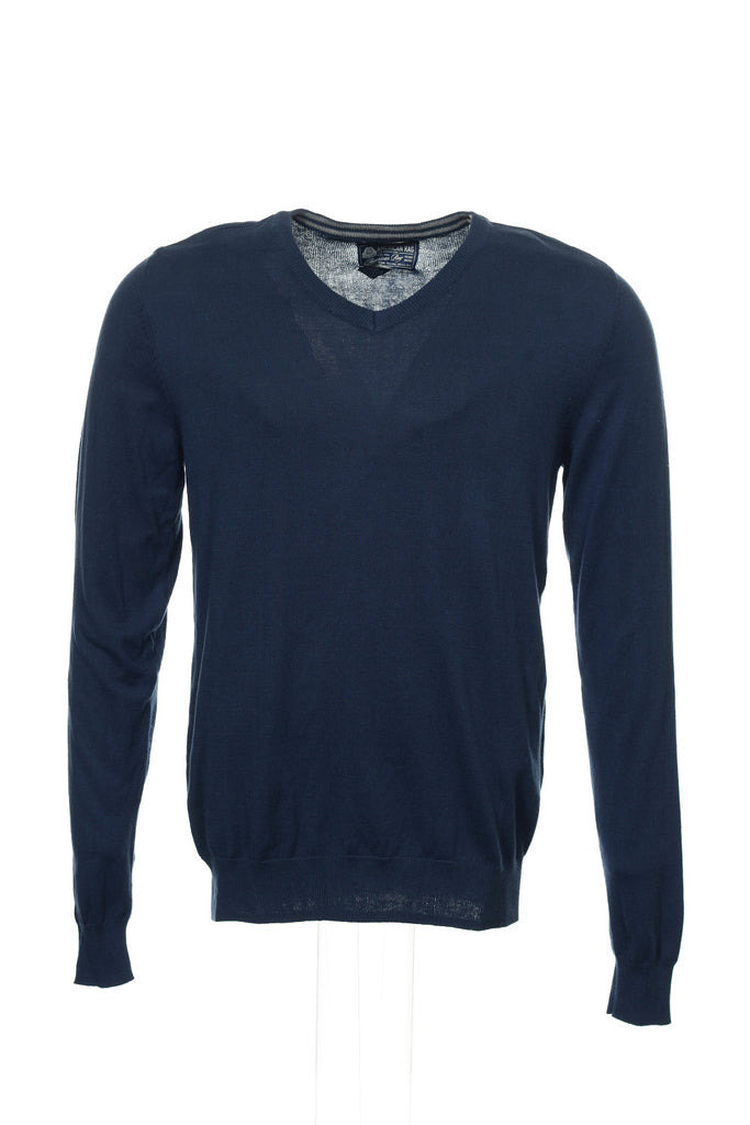 American Rag Mens Blue Heather V-Neck Sweater