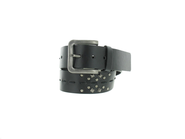 American Rag Mens Black Studded Casual Belt