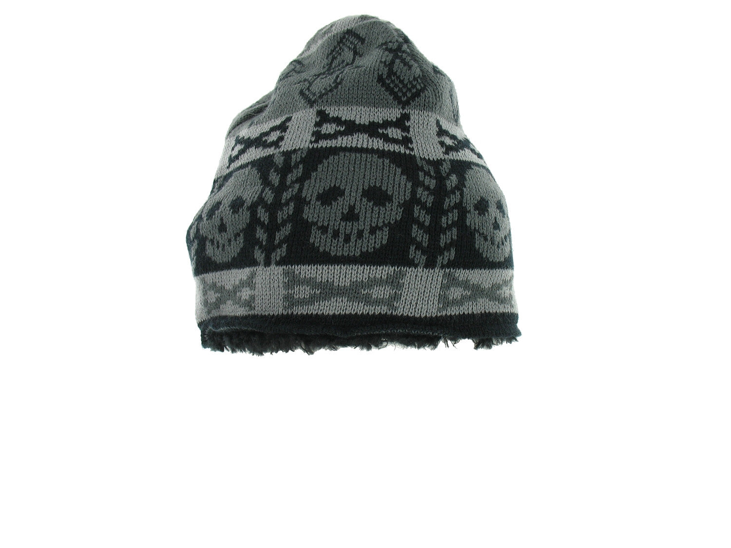 American Rag Mens Black Abstract Beanie