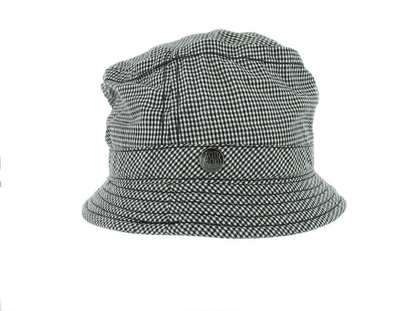 American Rag Mens Black Houndstooth Bucket Hat