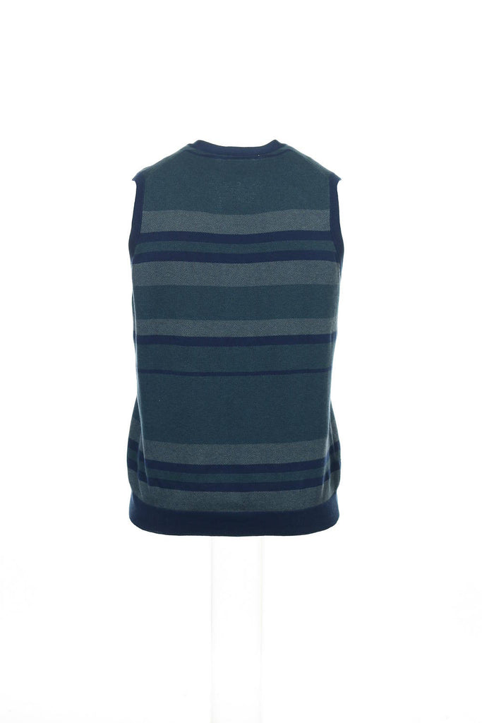 Argyleculture by Russell Simmons Mens Blue Striped Sweater Vest