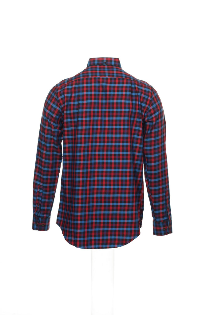 Argyleculture by Russell Simmons Mens Red Button Down Shirt