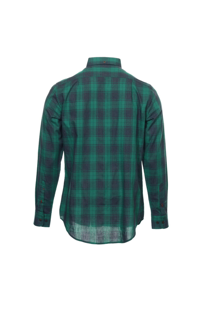 Argyleculture by Russell Simmons Mens Green Plaid Button Down Shirt