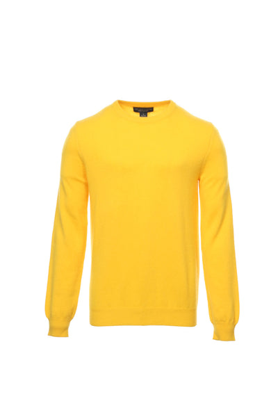 Baruffa Mens Yellow Crew Neck Sweater