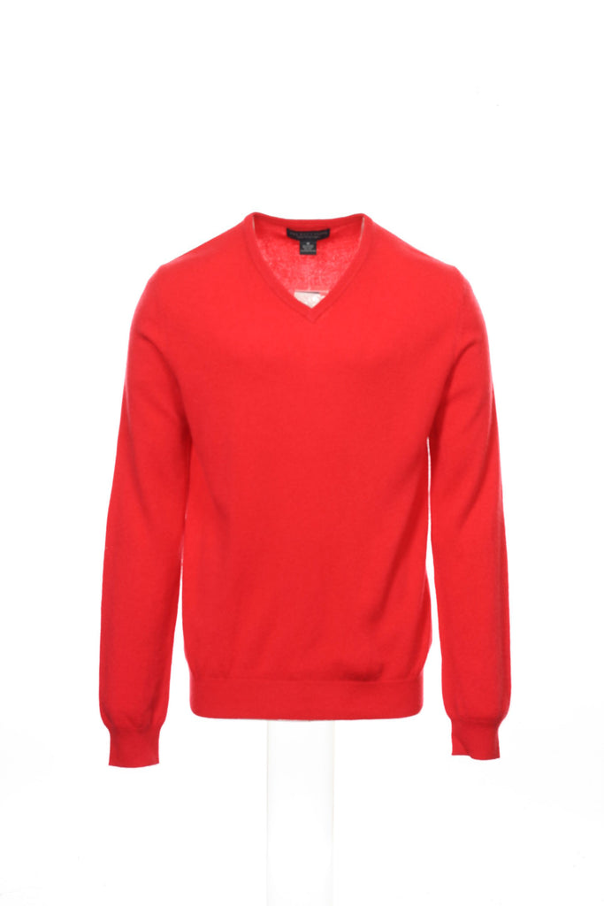 Baruffa Mens Red V-Neck Sweater