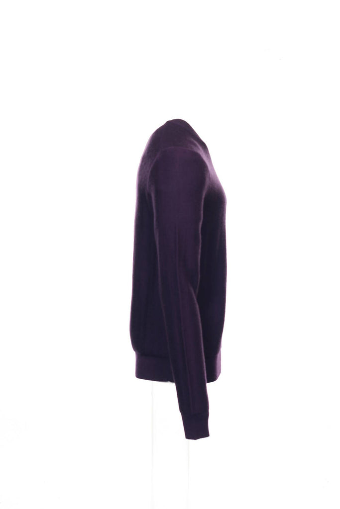 Baruffa Mens Purple V-Neck Sweater