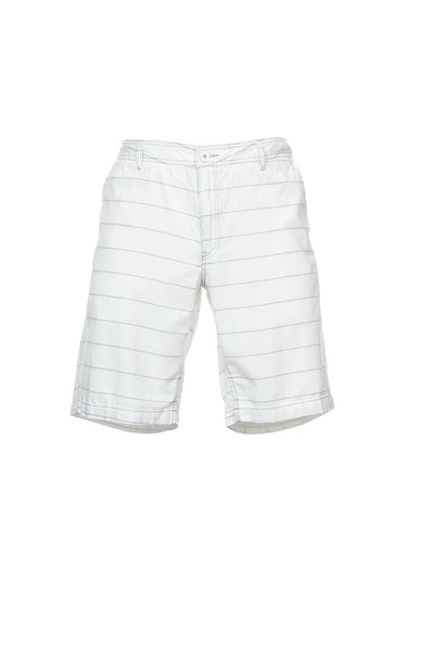 Bar III Mens White Striped Flat Front Walking Shorts