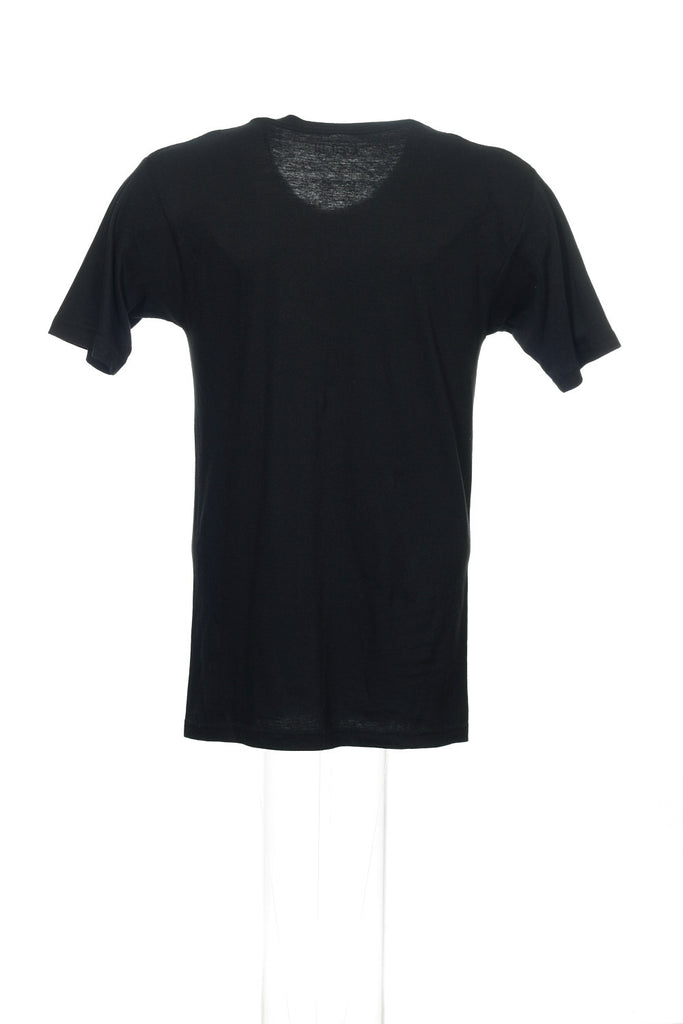 Bar III Mens Black Graphic V-Neck T-Shirt