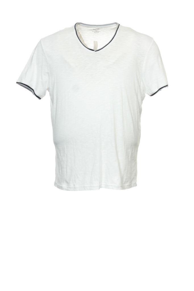Bar III Mens White V-Neck T-Shirt