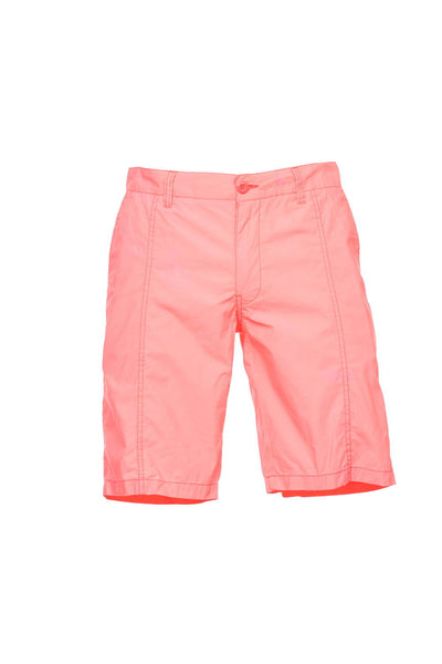 Bar III Mens Orange Flat Front Walking Shorts