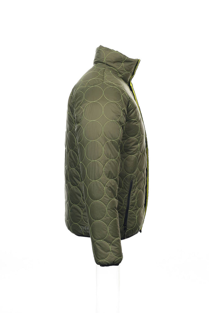Burton IDIOM Mens Olive Green Abstract Insulated Jacket