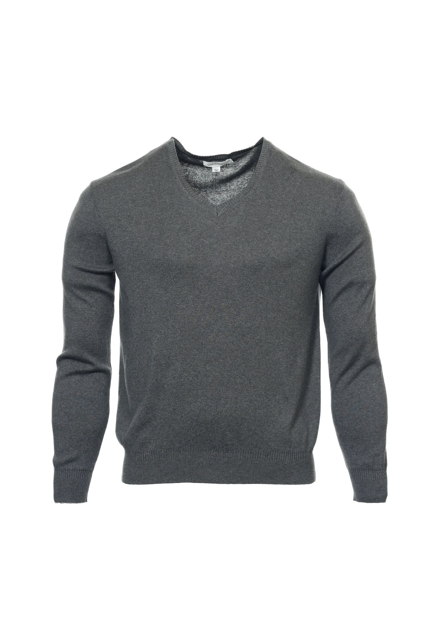 Calvin Klein Mens Gray V-Neck Sweater