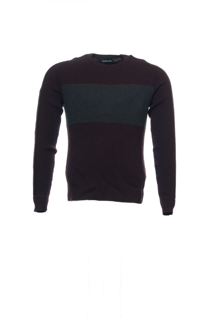 Calvin Klein Jeans Mens Purple Crew Neck Sweater