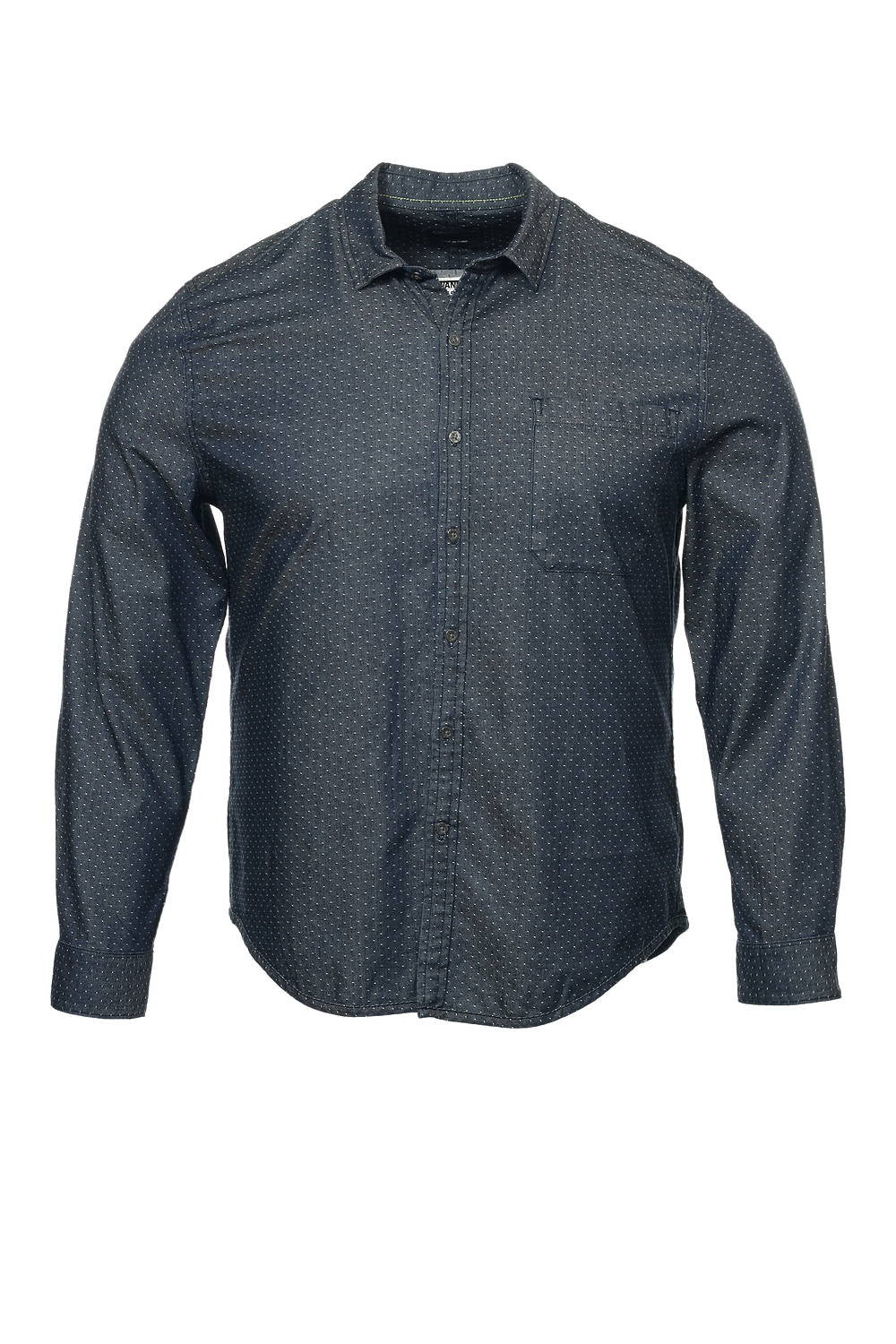 Calvin Klein Mens Blue Dotted Button Down Shirt