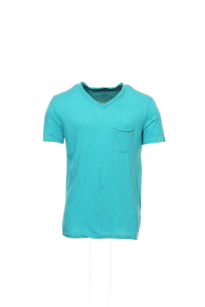 Cohesive & Co. Mens Aqua Heather V-Neck T-Shirt