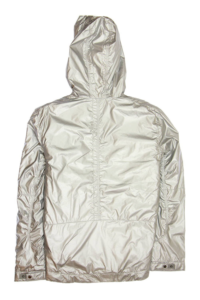 Converse Black Canvas Mens Silver Hooded Jacket