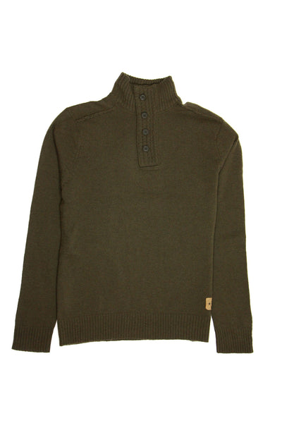 Converse Mens Olive Green Shawl Neck Sweater