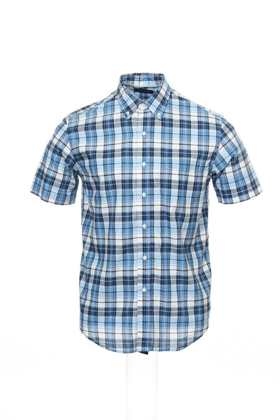 Club Room Mens Blue Button Down Shirt