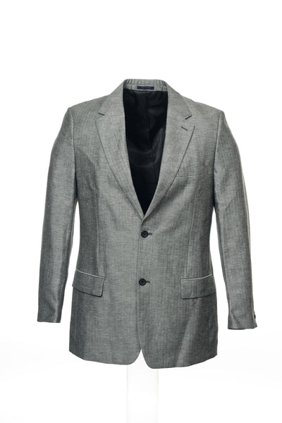 Club Room Mens Gray Herringbone 2 Button Sport Coat