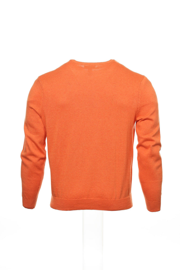 Club Room Mens Orange Crew Neck Sweater