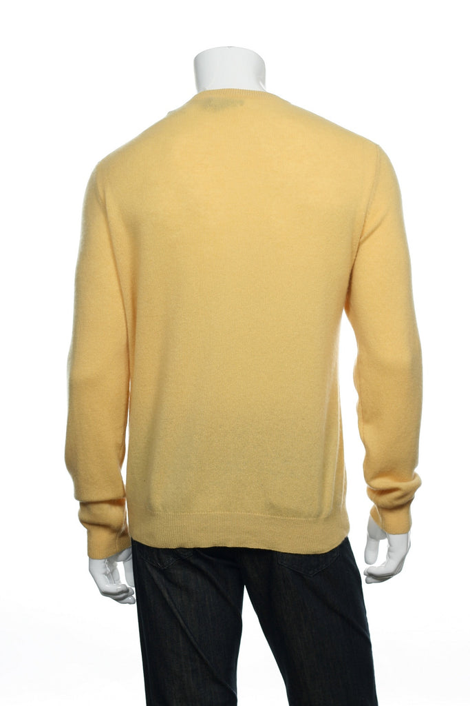 Club Room Mens Yellow V-Neck Sweater