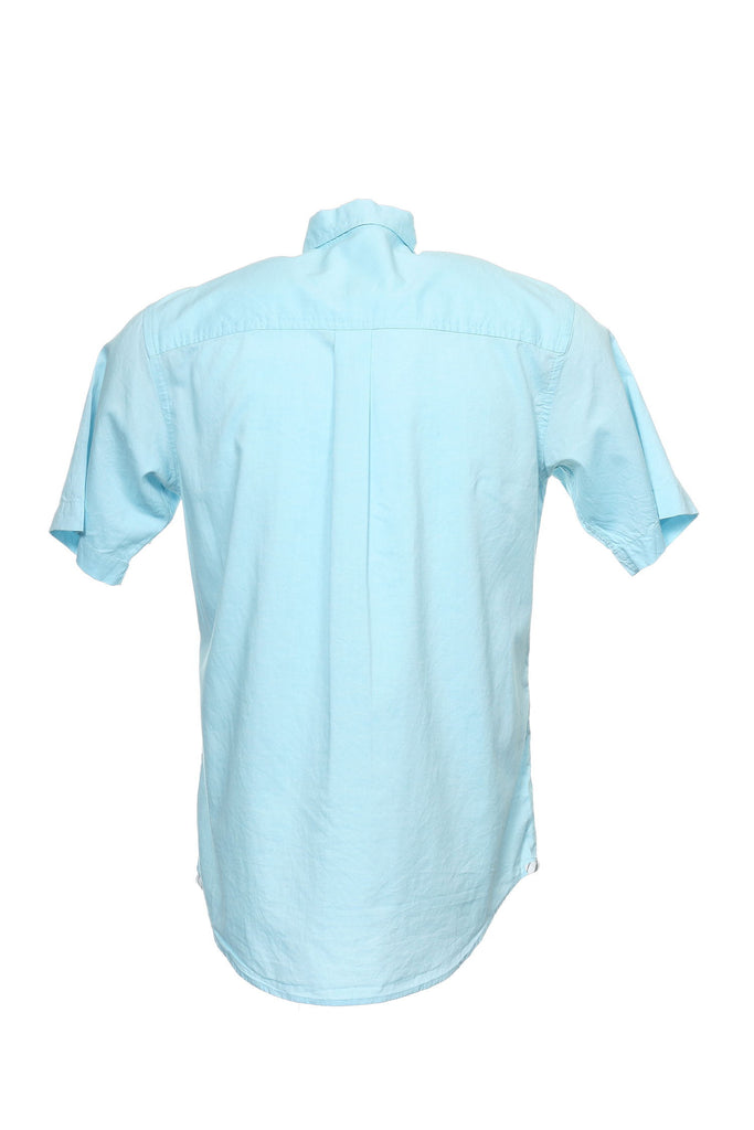 Club Room Mens Light Blue Heather Button Down Shirt