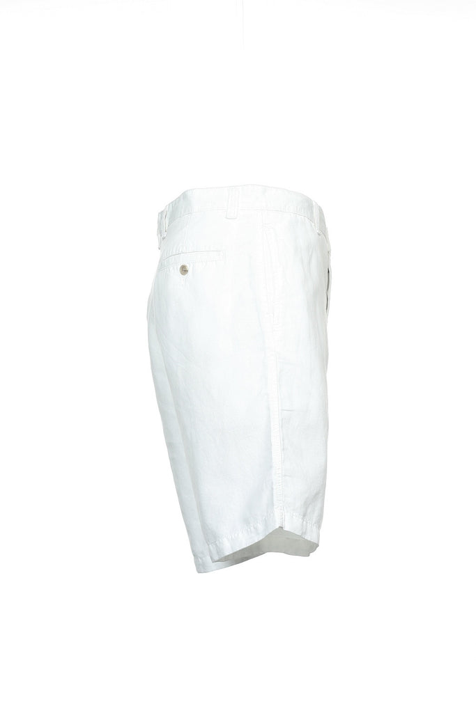 Club Room Mens White Flat Front Walking Shorts