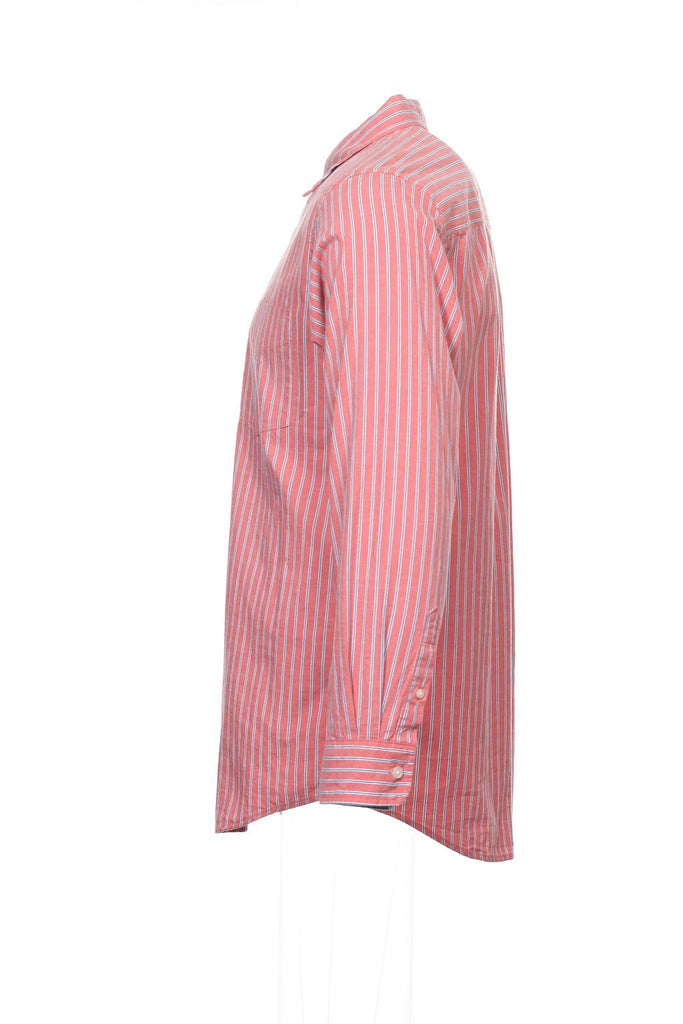 Club Room Mens Mauve Striped Button Down Shirt