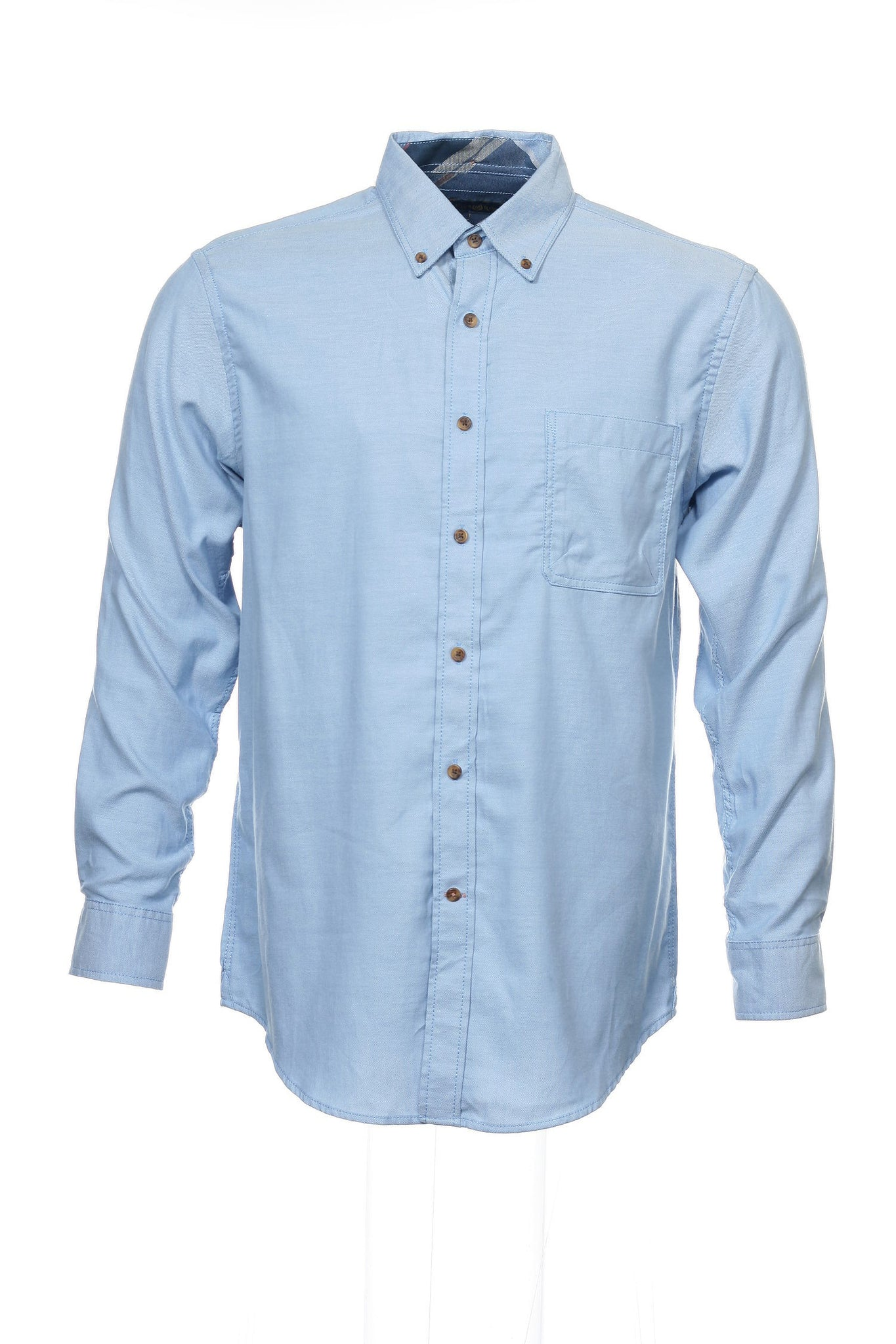 Club Room Mens Light Blue Button Down Shirt