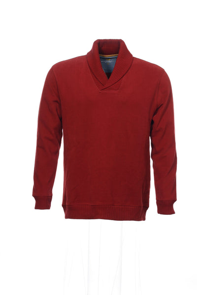 Club Room Mens Red Shawl Neck Sweater