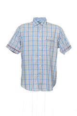 Club Room Mens Multi-Color Checked Camp Shirt