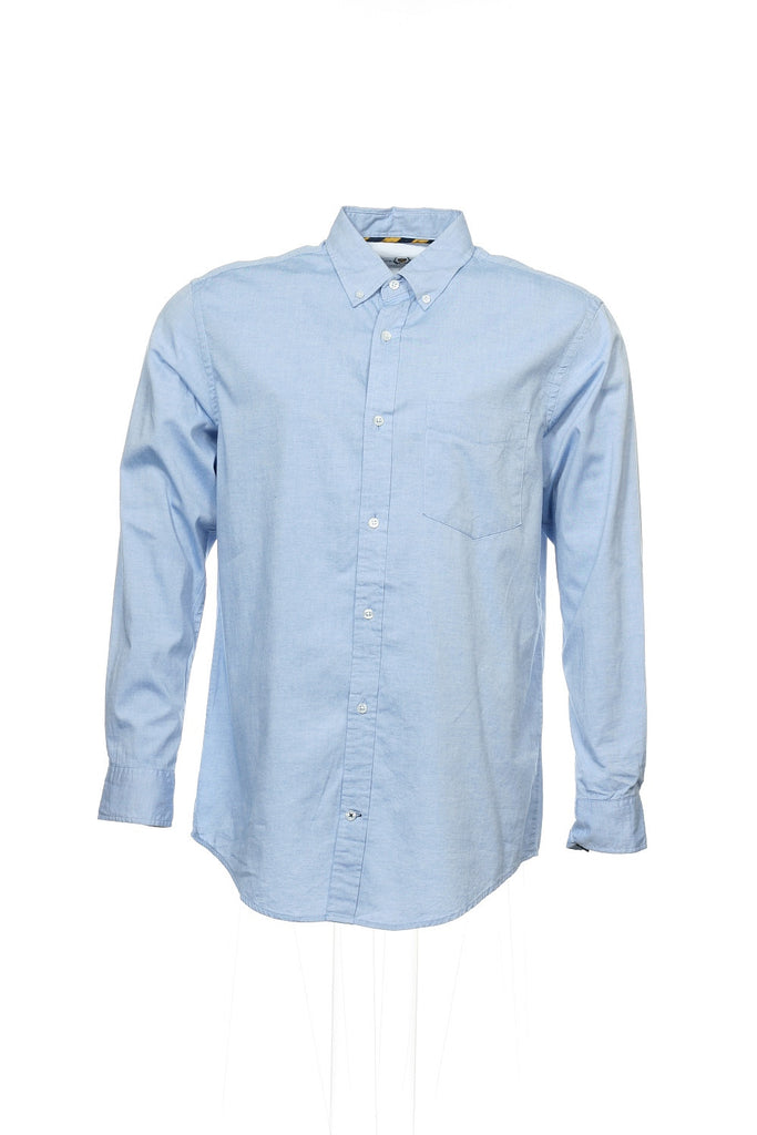 Club Room Mens Blue Heather Button Down Shirt
