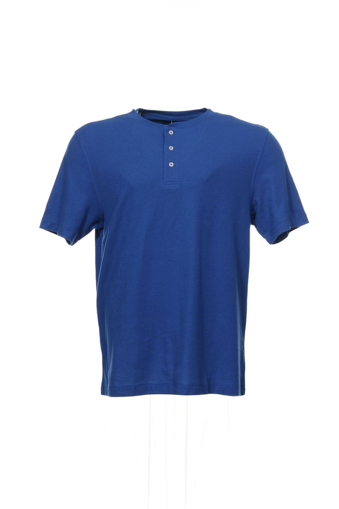 Performance by Club Room Mens Blue Heather Polo Shirt