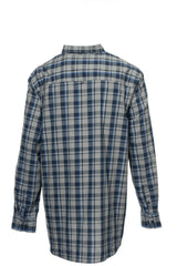 Club Room Mens Gray Plaid Button Down Shirt