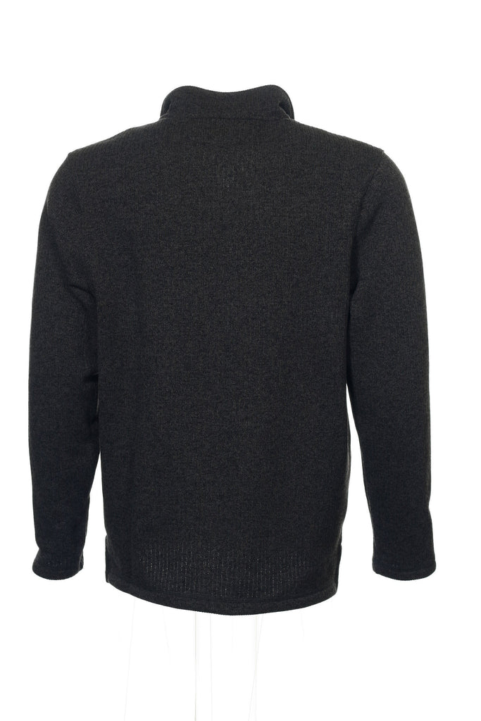 Club Room Mens Gray Heather Half Zip Sweater