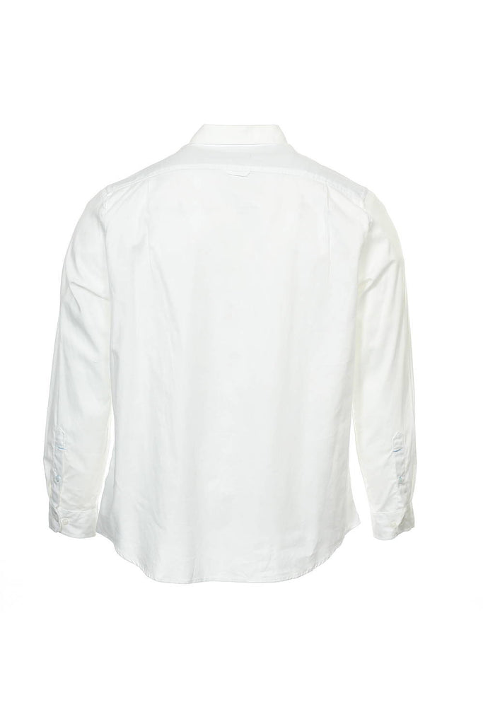 Club Room Mens White Herringbone Button Down Shirt
