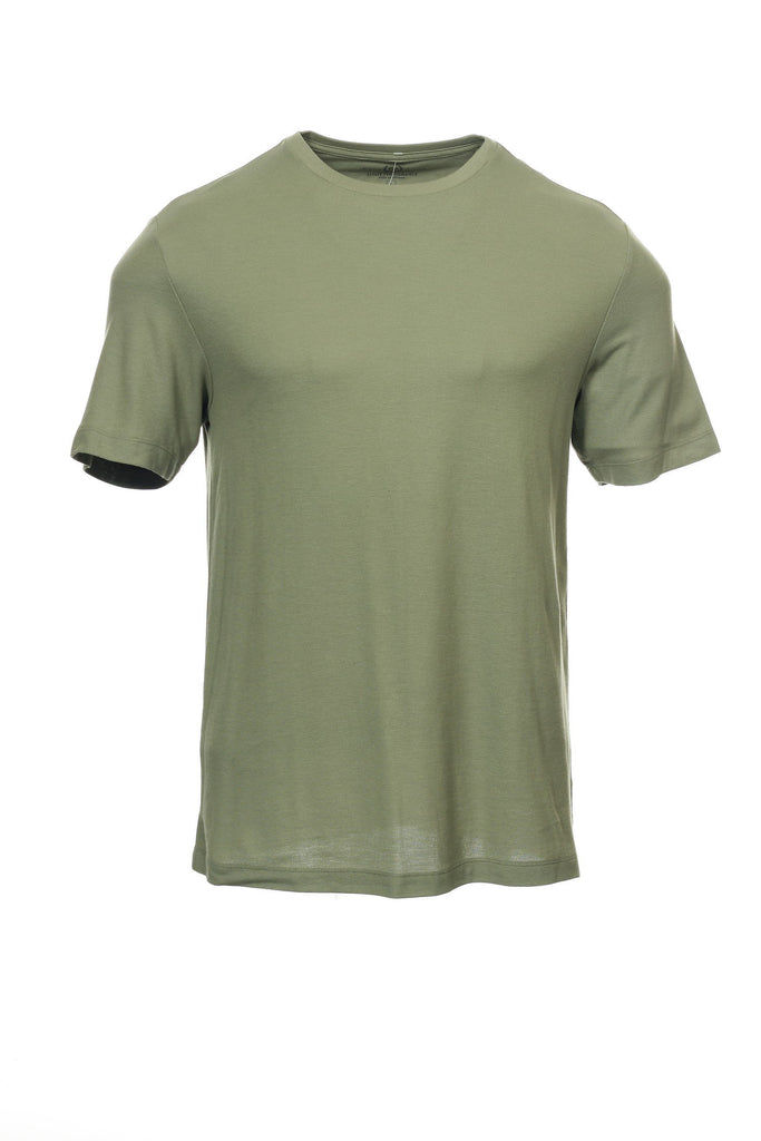 Performance by Club Room Mens Olive Green Heather T-Shirt