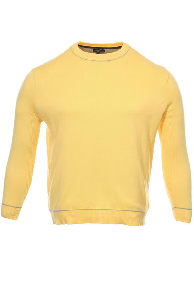 Club Room Mens Yellow Heather Crew Neck Sweater