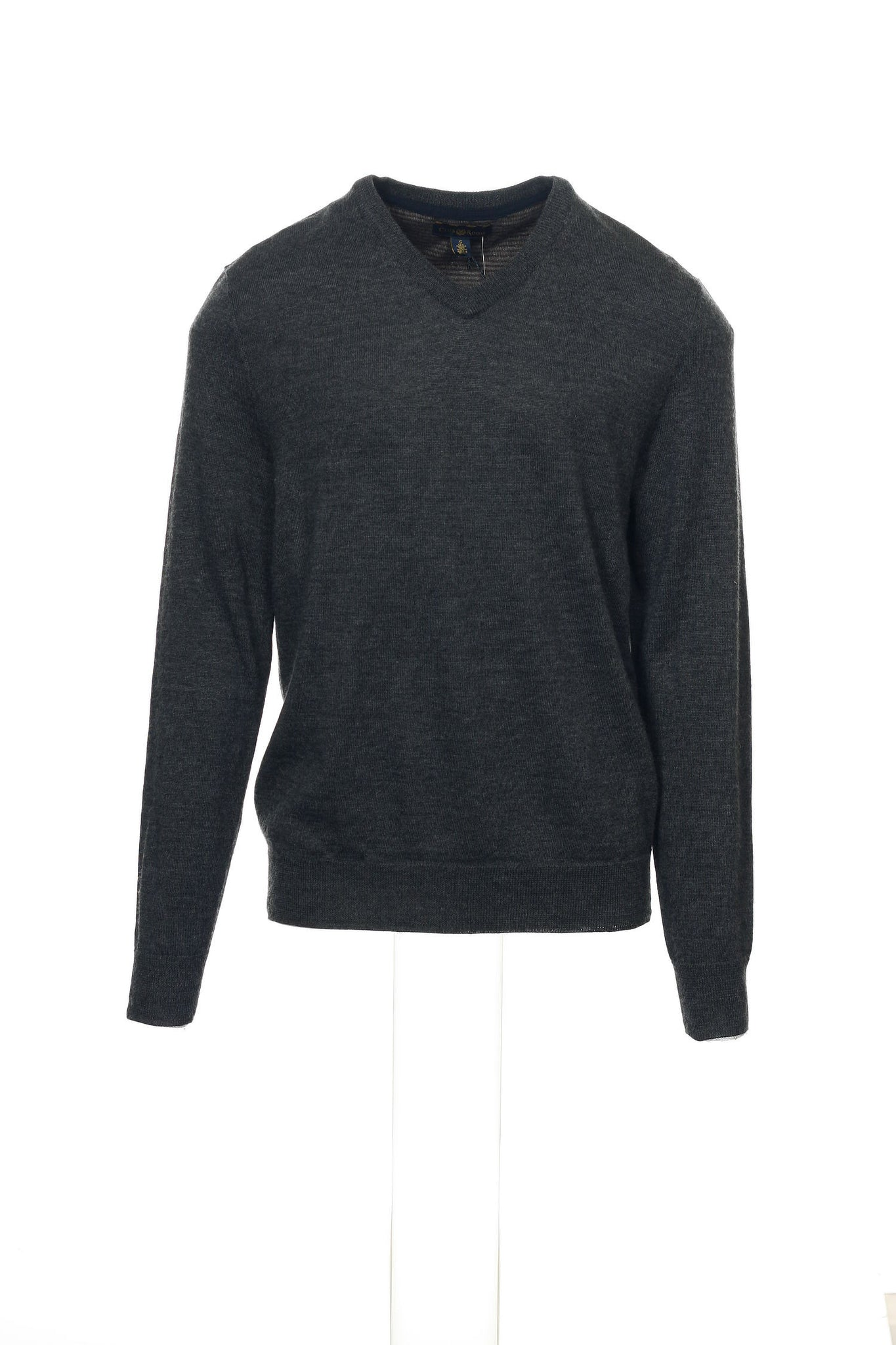 Club Room Mens Gray Heather V-Neck Sweater