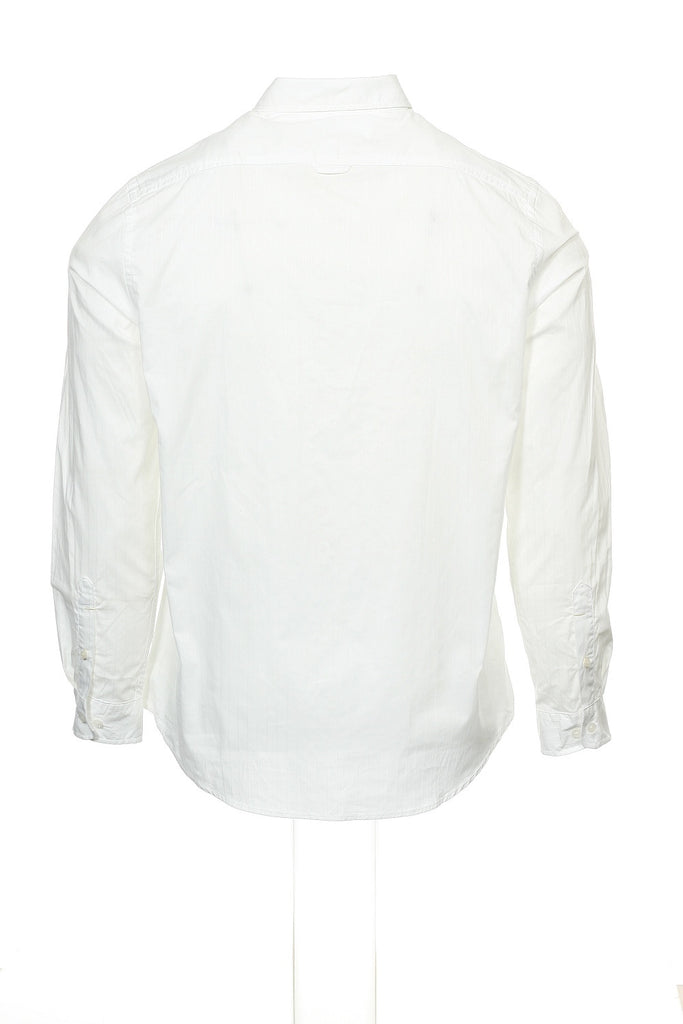 Club Room Mens White Pinstripe Button Down Shirt