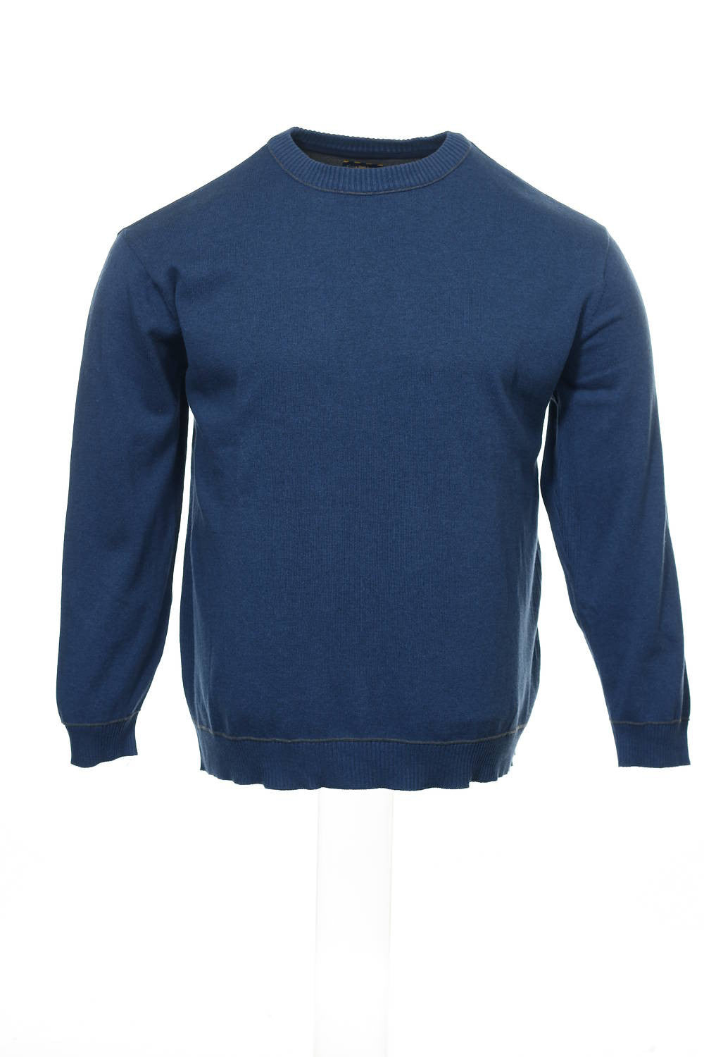 Club Room Mens Blue Heather Crew Neck Sweater