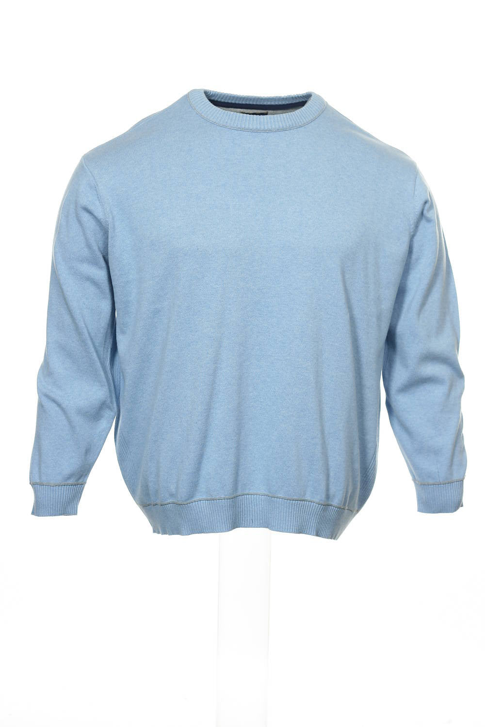 Club Room Mens Light Blue Heather Crew Neck Sweater